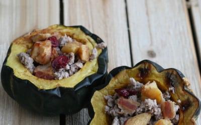 Pork, Bacon and Apple Stuffed Acorn Squash (Autoimmune Protocol)