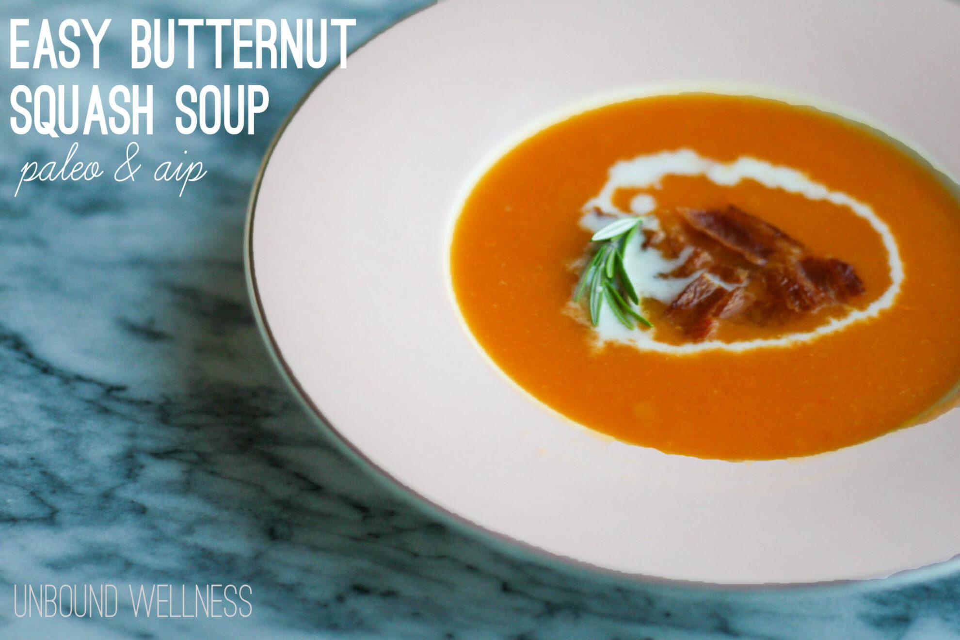 AIP & paleo butternut squash soup