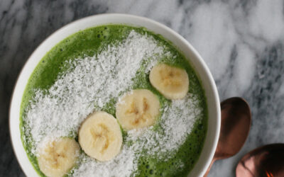 Coconut Kale Green Smoothie Bowl | AIP and Gut Healing