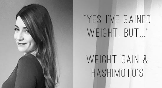 """Yes, I've gained weight, but..."" 