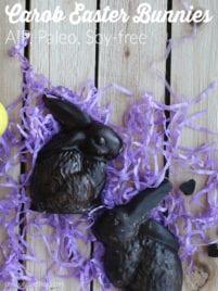 Carob Easter Bunnies