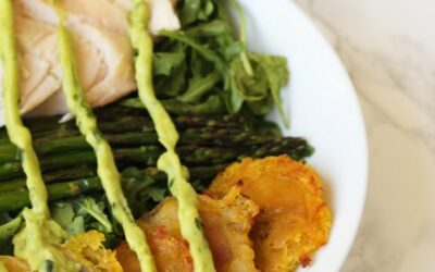 Chicken, Asparagus & Plantain Breakfast Balance Bowl (AIP, Paleo, Whole 30)