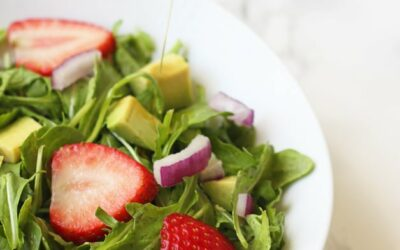 Spring Strawberry Arugula Salad with Lemon Vinaigrette (Paleo, AIP, Whole 30)