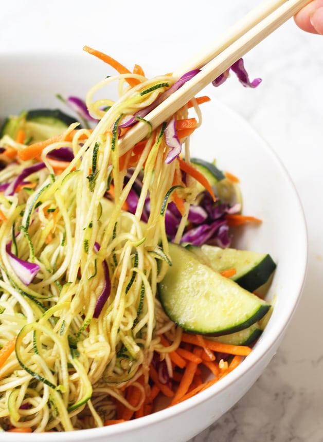 Asian Veggie Noodle Bowl (Paleo, AIP, Whole 30)