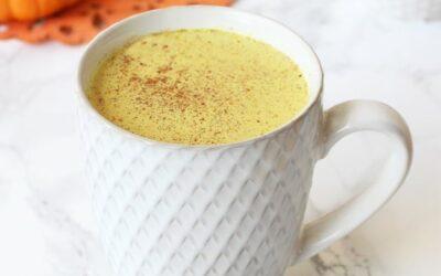 Anti-Inflammatory Turmeric Pumpkin Spice Latte (Dairy Free, Paleo & AIP)