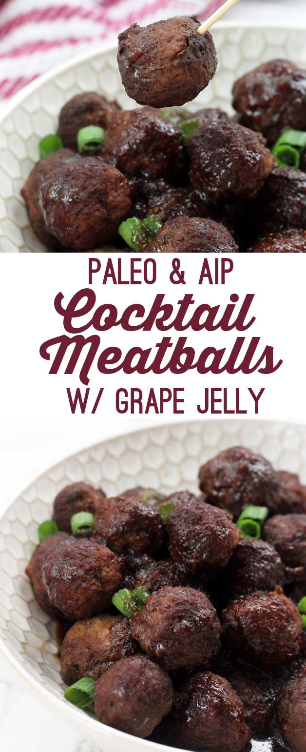 Paleo Cocktail Meatballs with Grape Jelly (AIP)