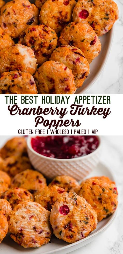 Cranberry Turkey Poppers