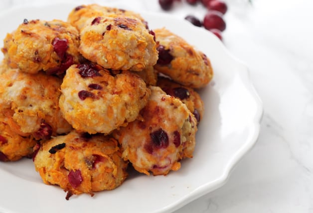 Cranberry Sweet Potato Turkey Poppers (Paleo, AIP, Whole 30)