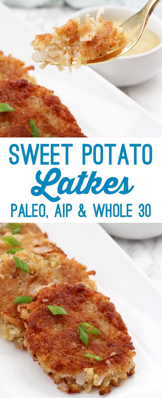 Sweet Potato Latkes (Paleo, Whole 30, AIP)