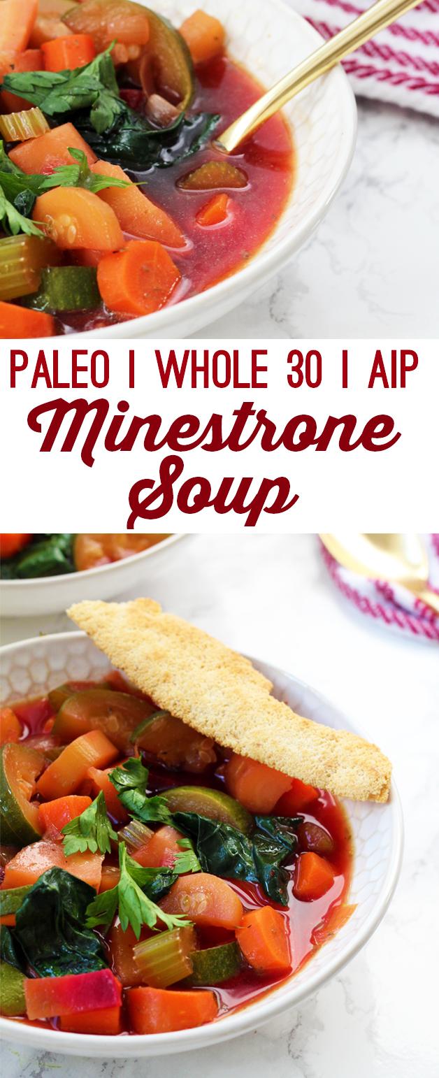 Paleo Minestrone Soup (AIP & Whole 30)