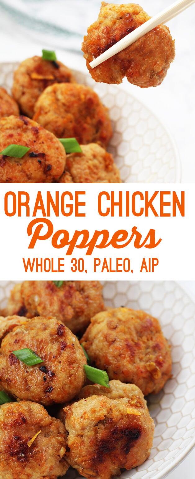Orange Chicken Poppers (Paleo, Whole 30, AIP)