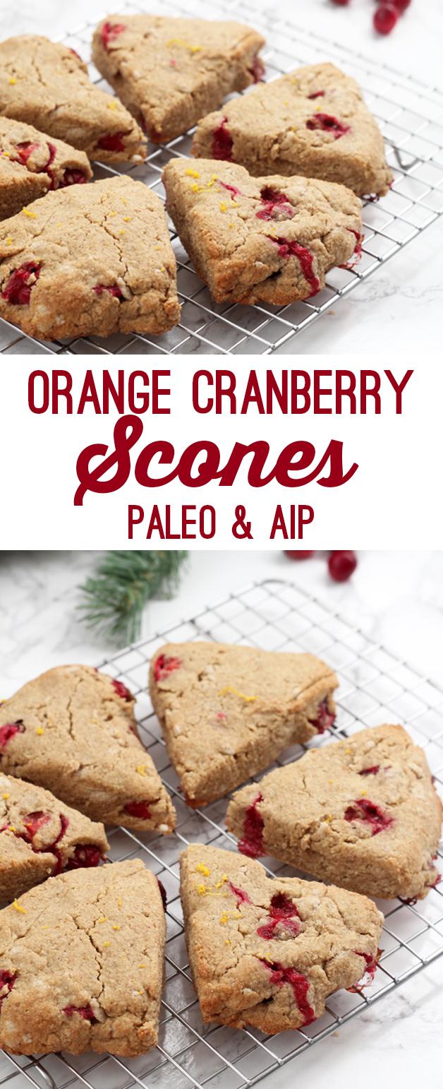 Orange Cranberry Scones (Paleo & AIP)