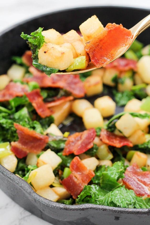 Jicama Breakfast Hash (Paleo, AIP, Whole 30)