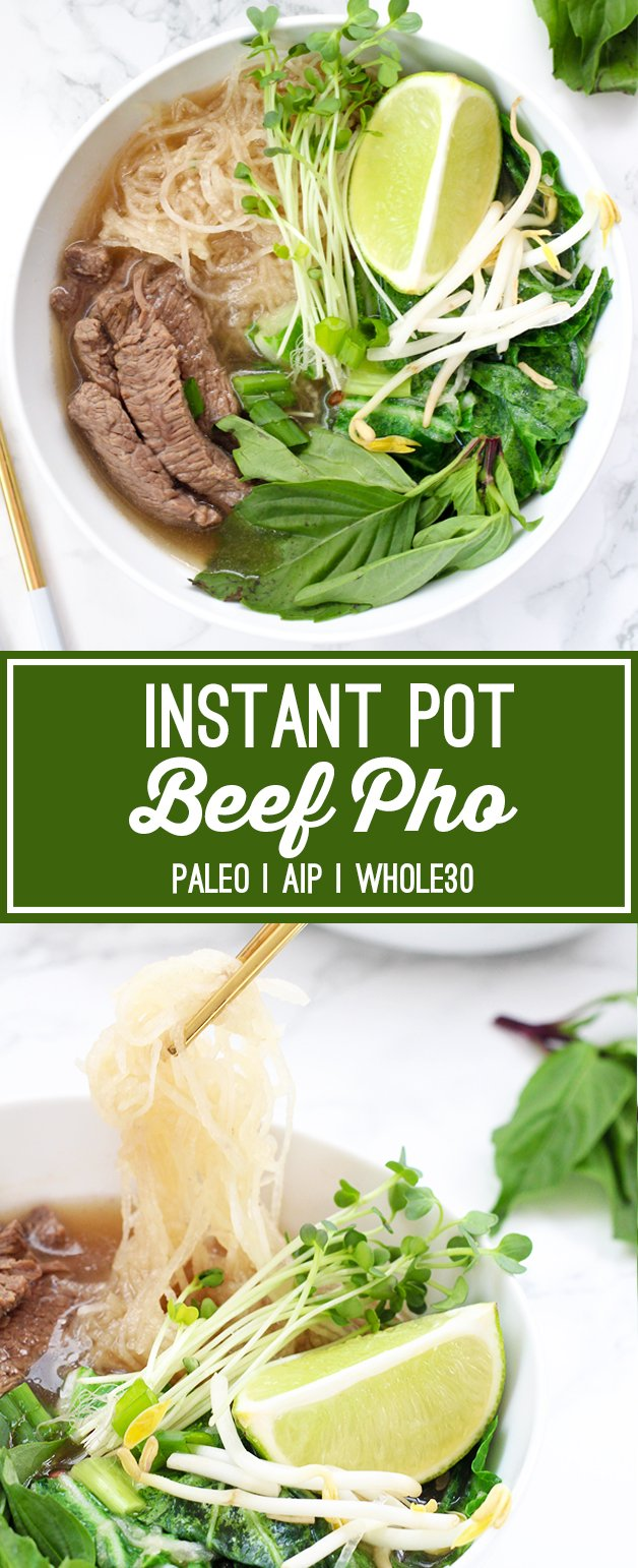 Instant Pot Beef Pho (Paleo, Whole30, AIP)