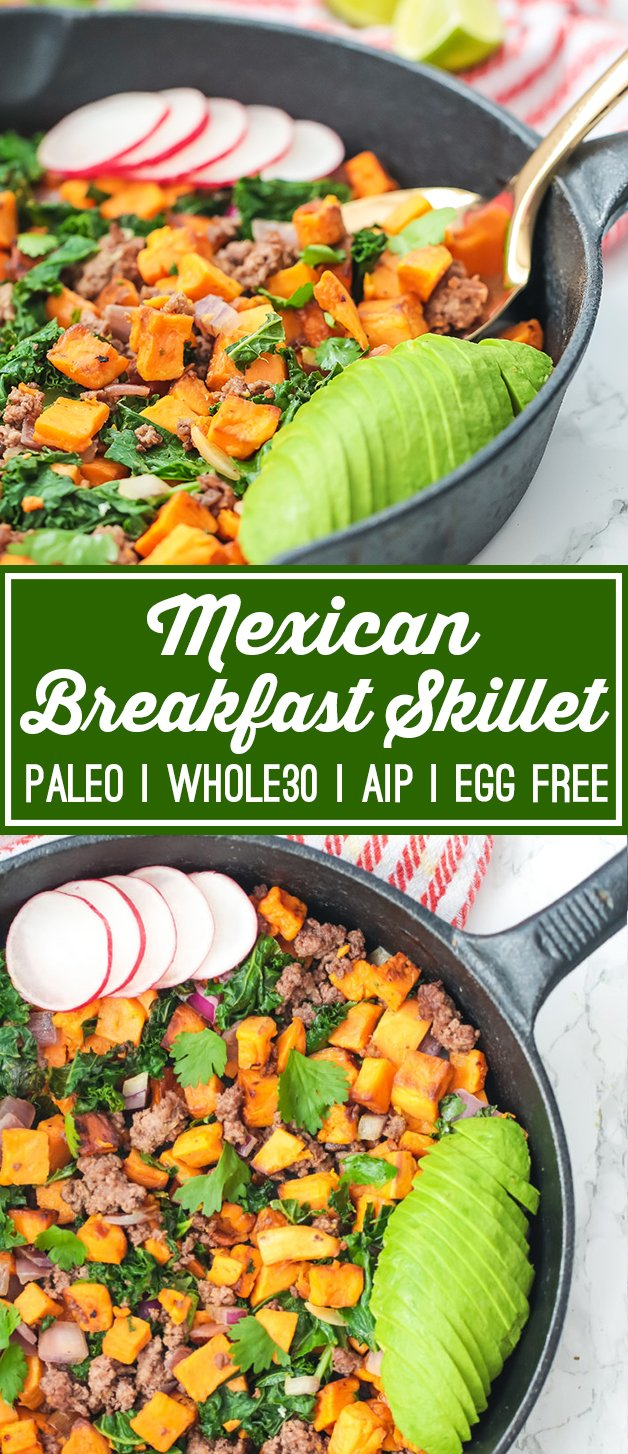 Mexican Breakfast Skillet (Paleo, Whole30, AIP, Egg Free)