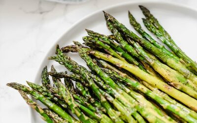 Roasted Asparagus with Turmeric Dressing