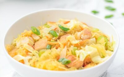 Spaghetti Squash Chicken Chow Mein (Paleo, Whole30, AIP)
