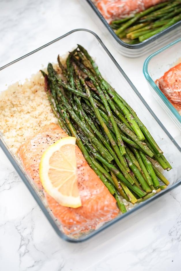 salmon meal prep bowls