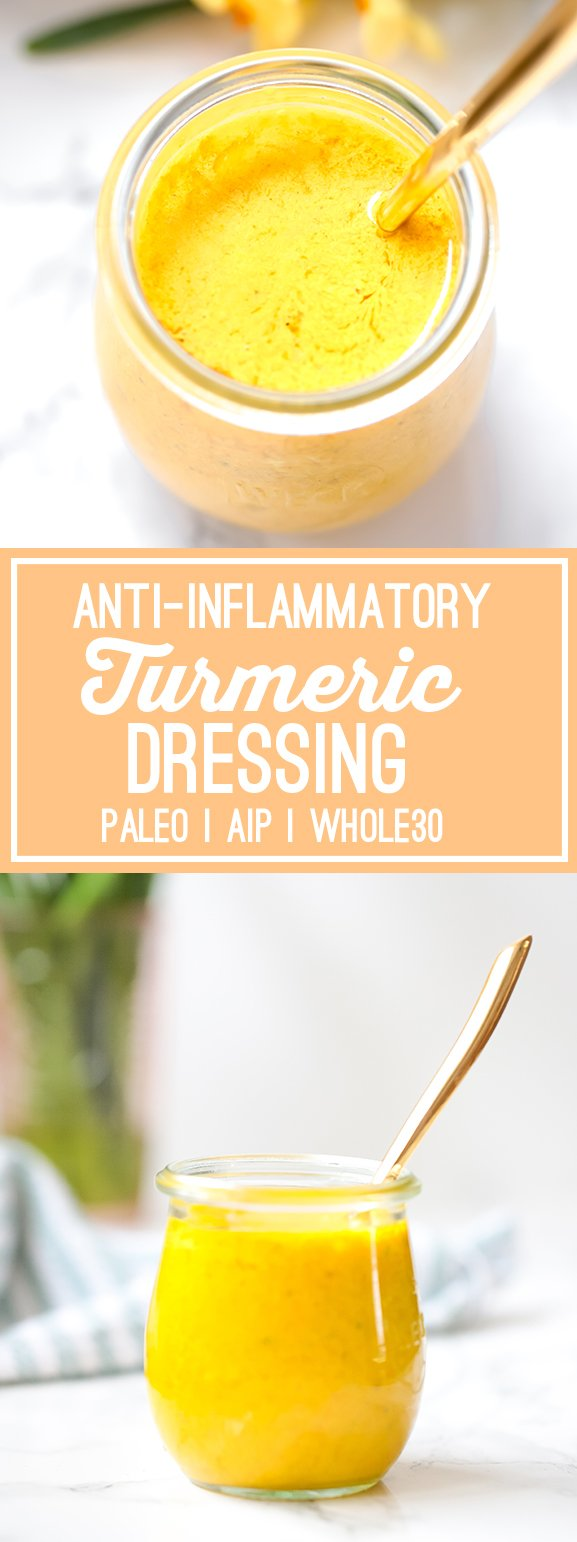 Anti-inflammatory Turmeric Dressing (Paleo, AIP, Whole30)