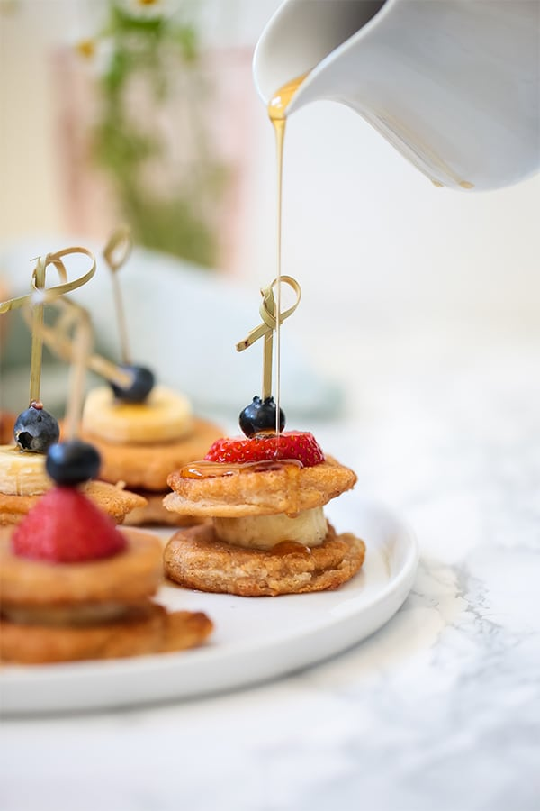 Paleo pancake skewers vegan gluten free unbound wellness pancakes have been present at pretty much every holiday in my house growing up and most sunday mornings theres little you can do to make pancakes ccuart Images