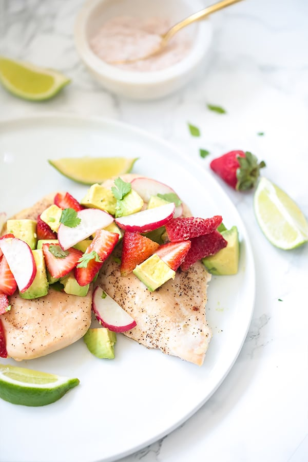 Baked Chicken With Strawberry Avocado Salsa Paleo Whole30 Aip