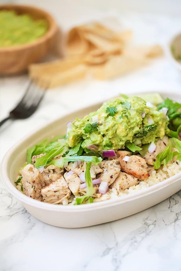 Copycat Chipotle Chicken Burrito Bowl Whole30 Paleo Aip Unbound Wellness