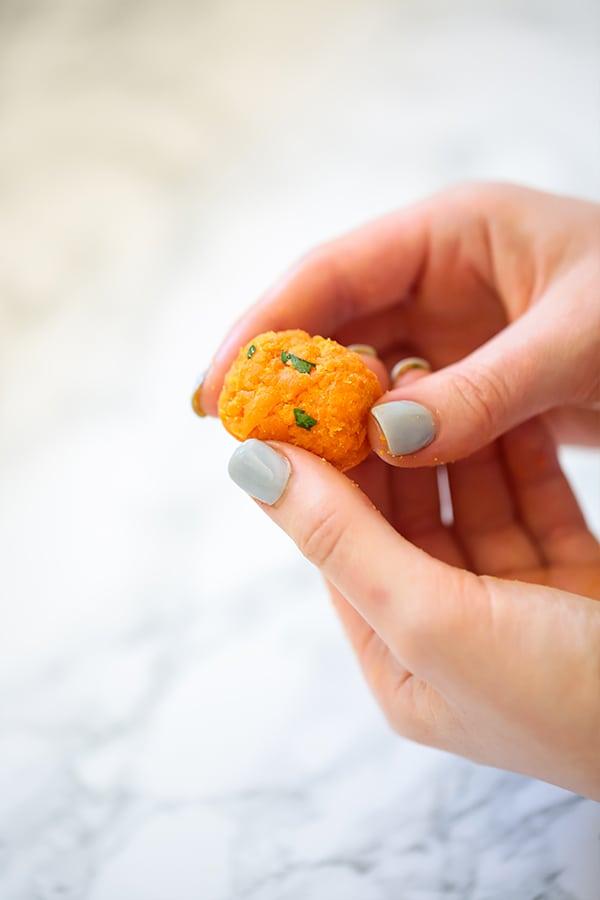Baked Sweet Potato Tater Tots (Paleo, AIP, Kid Friendly)
