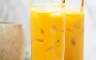 Anti-inflammatory Iced Golden Milk Turmeric Latte (Paleo, AIP, Vegan)
