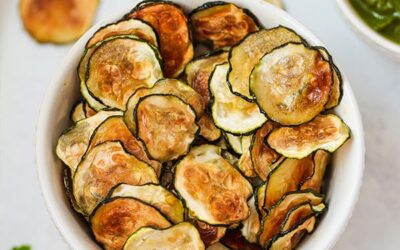 Oven Baked Zucchini Chips (Paleo, AIP, Vegan, No-cheese)