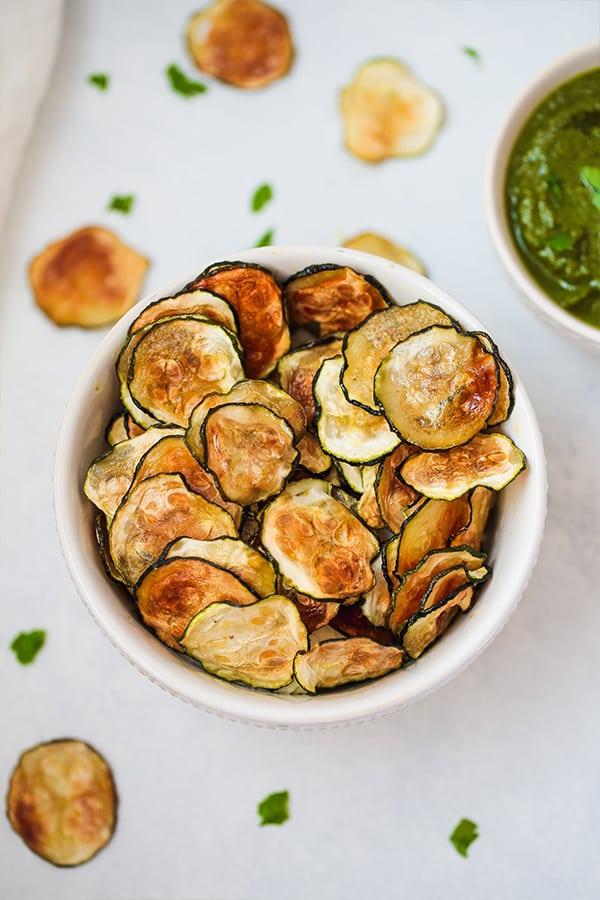 Oven Baked Zucchini Chips Paleo Aip Vegan No Cheese