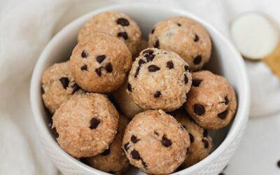 No-bake Cookie Dough Collagen Protein Bites (Paleo, AIP, Gluten Free)