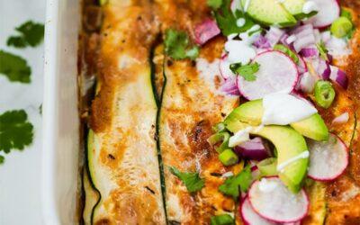Low Carb Zucchini Chicken Enchilada Casserole (Paleo, AIP, Whole30)
