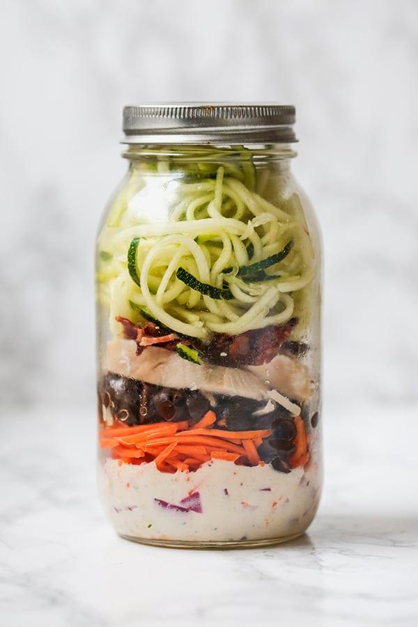 Mason Jar BLT Salad