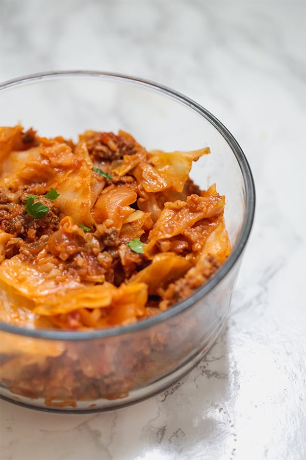 cabbage roll in a bowl