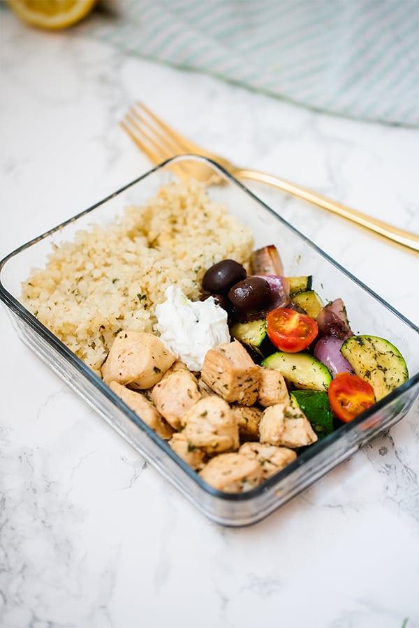 One Pan Greek Chicken Meal Prep Paleo Whole30 Keto Aip