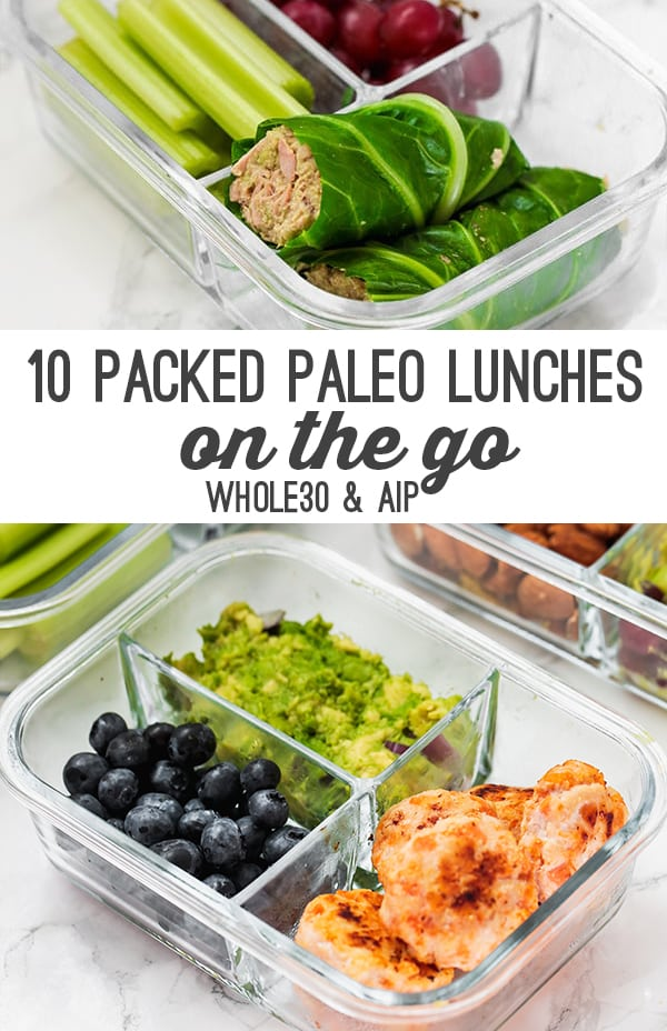 Paleo packed lunch