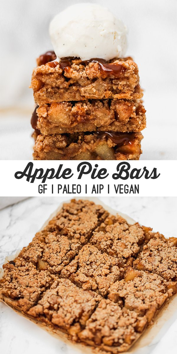 Paleo apple pie bars