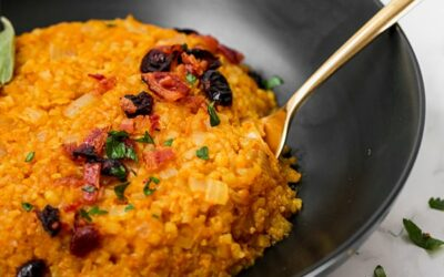 Cauliflower Pumpkin Risotto (Paleo, Whole30, AIP)