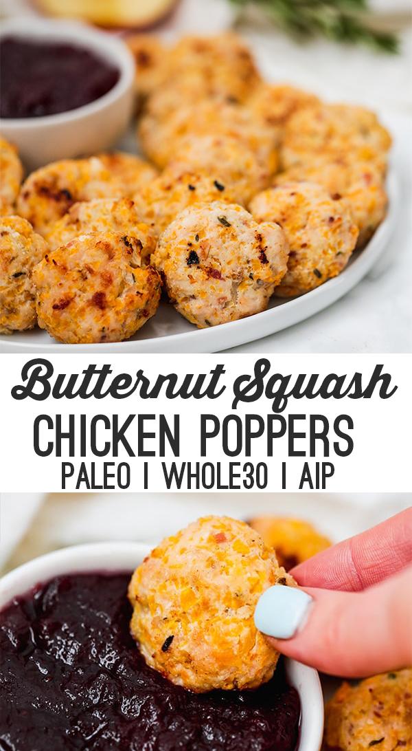 butternut squash chicken poppers
