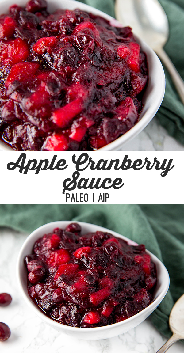 paleo apple cranberry sauce