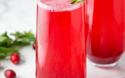 Sparkling Cranberry Mocktail (Paleo, AIP, Non-Alcoholic)