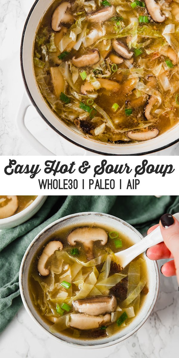 easy whole30 hot & sour soup
