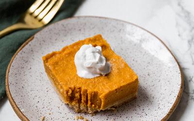 Paleo Pumpkin Pie Bars (AIP)