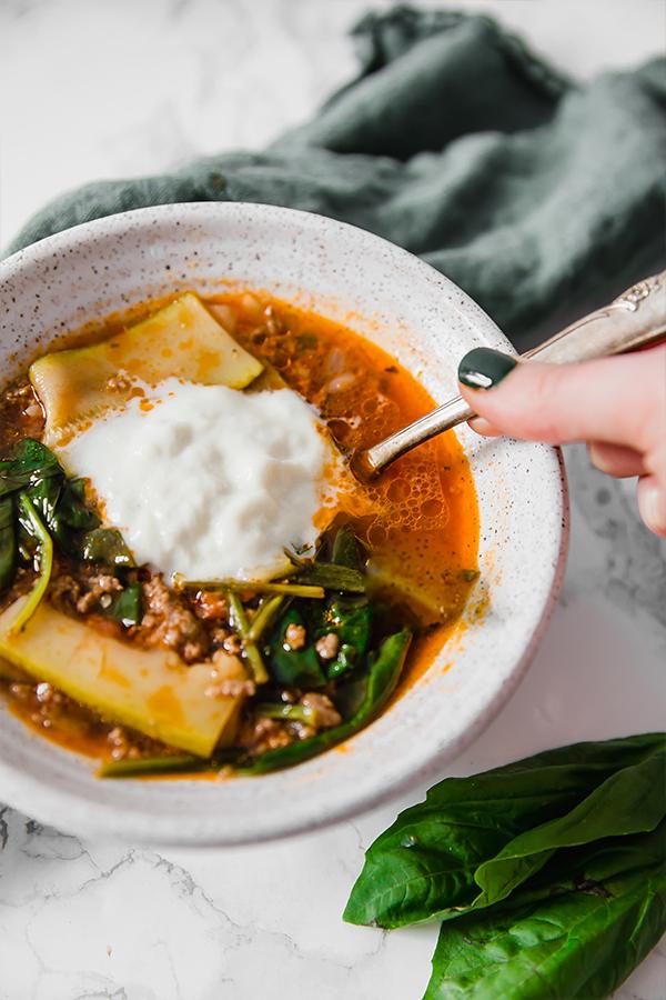 Paleo Lasagna Soup