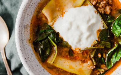 Paleo Lasagna Soup (AIP, Whole30, Keto, Instant Pot)