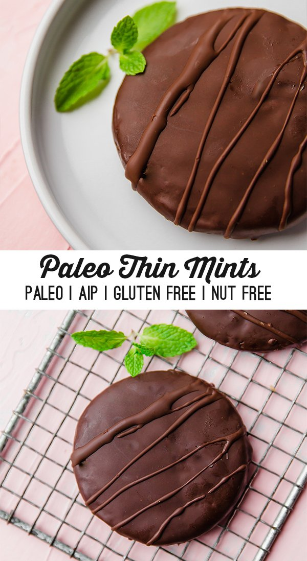 Paleo Thin Mint Cookies