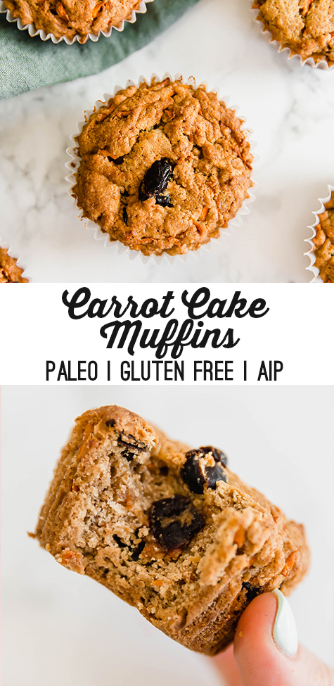 Carrot Cake Muffins (GF, Paleo, AIP) - Unbound Wellness