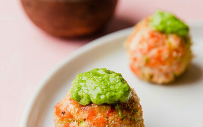 Baked Salmon Meatballs w/ Avocado Green Goddess (Paleo, Keto, Whole30 & AIP)