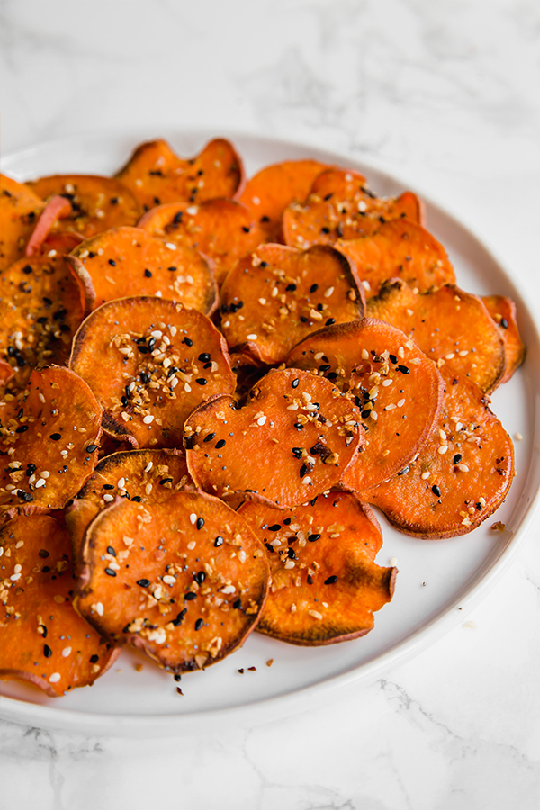 Sweet potato bagel chips