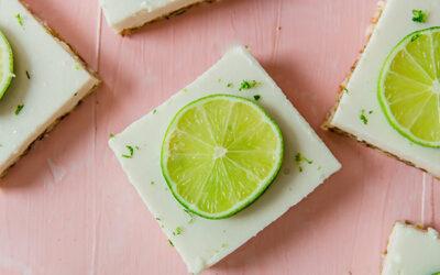 Paleo Key Lime Pie Bars (AIP, No Bake)